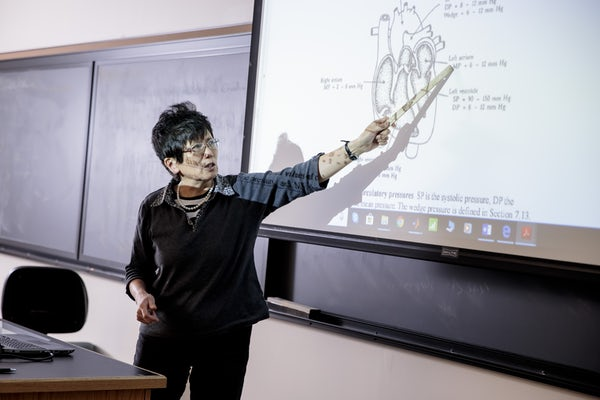 WashU's Department of Biomedical Engineering is comprised of 21 full-time faculty and nearly 100 affiliate faculty from the School of Engineering and School of Medicine. Photo by Whitney Curtis
