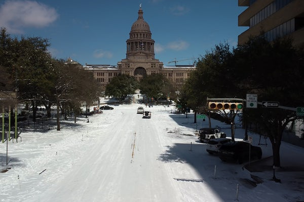 Texas' Capitol and its Congress Avenue entrance in Austin on Feb. 15. (Photo: Shutterstock)