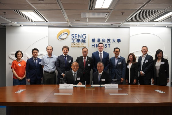 Officials from McKelvey School of Engineering and Hong Kong University of Science & Technology signed an agreement for the new program this fall in Hong Kong.