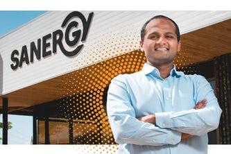 Ani Vallabhaneni is co-founder of Sanergy. Photo by Alissa Laurie, collage by Monica Duwel