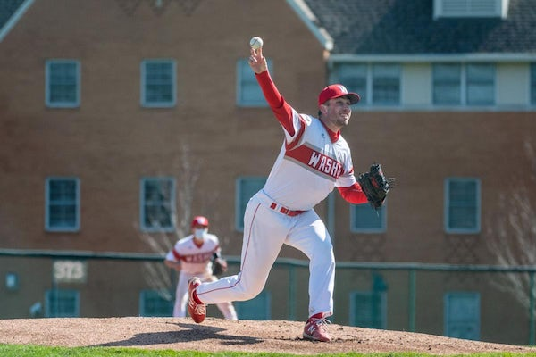 Senior Ryan Loutos is the staff ace for No. 1-ranked Washington University. He's 9-1 with a 1.16 ERA this season. (Washington University photo)