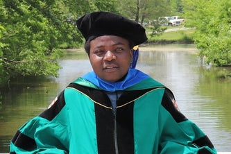 Tatenda Shopera, MSChE '16, PhD '18, is a senior scientist at Pfizer.