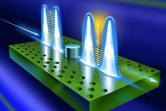 Jung-Tsung Shen, associate professor in the Department of Electrical & Systems Engineering, has developed a deterministic, high-fidelity, two-bit quantum logic gate that takes advantage of a new form of light. This new logic gate is orders of magnitude more efficient than the current technology. (Image: Courtesy Jung-Tsung Shen)