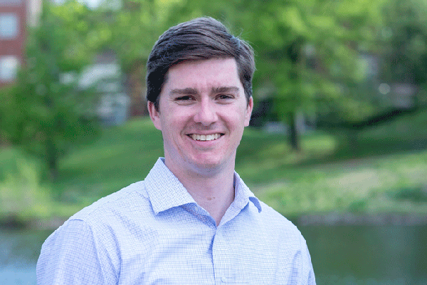 Spring 2021 mechanical engineering graduate David McFarland has been offered a full-time position following his internship as a project manager. (Photo by August Jennewein)