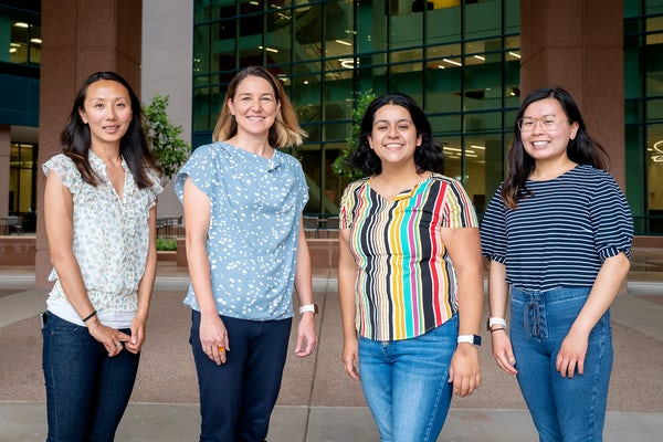 Heather Mefford, second from left, moved her lab from Seattle to Memphis, Tennessee, for her new role at St. Jude's Children's Research Hospital, where she'll help lead the new Center for Pediatric Neurological Disease Research.