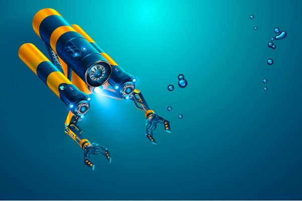 Regenerative fuel cells, with high round-trip efficiencies like that produced with a catalyst developed in the lab of Vijay Ramani, are well suited for submersibles, drones, and spacecraft, as well as for off-grid energy storage. (Submersible rendering image: Shutterstock)